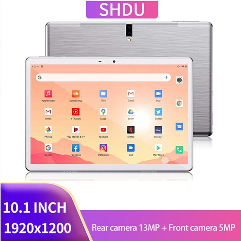 2021 neue Tablet Pc 10,1 zoll Android 10,0 Tabletten 64GB ROM Octa Core Google Spielen 3g 4g LTE Anruf GPS WiFi Bluetooth 10 zoll