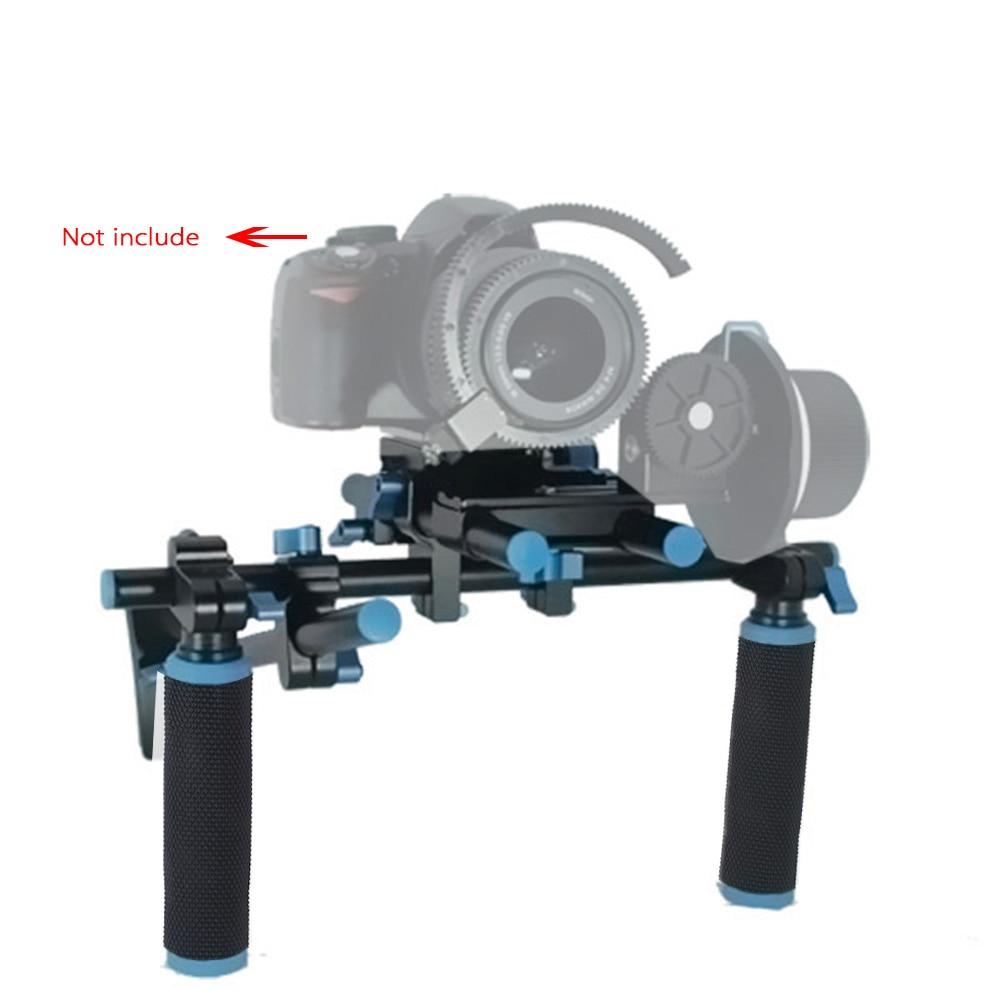 Commlite Video Rig Halterung V1 Mit doppel griffe aluminium legierung Video Halterung für DSLR Kameras DV kamera Camcorder