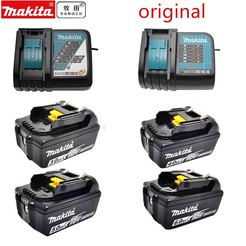 البطارية الأصلي ماكيتا 18V 3.0A 4.0A 5.0A 6.0A شاحن ل BL1830B BL1840B BL1850B BL1860B BL1860 BL1850DC18RCT DC18RC DC18SD