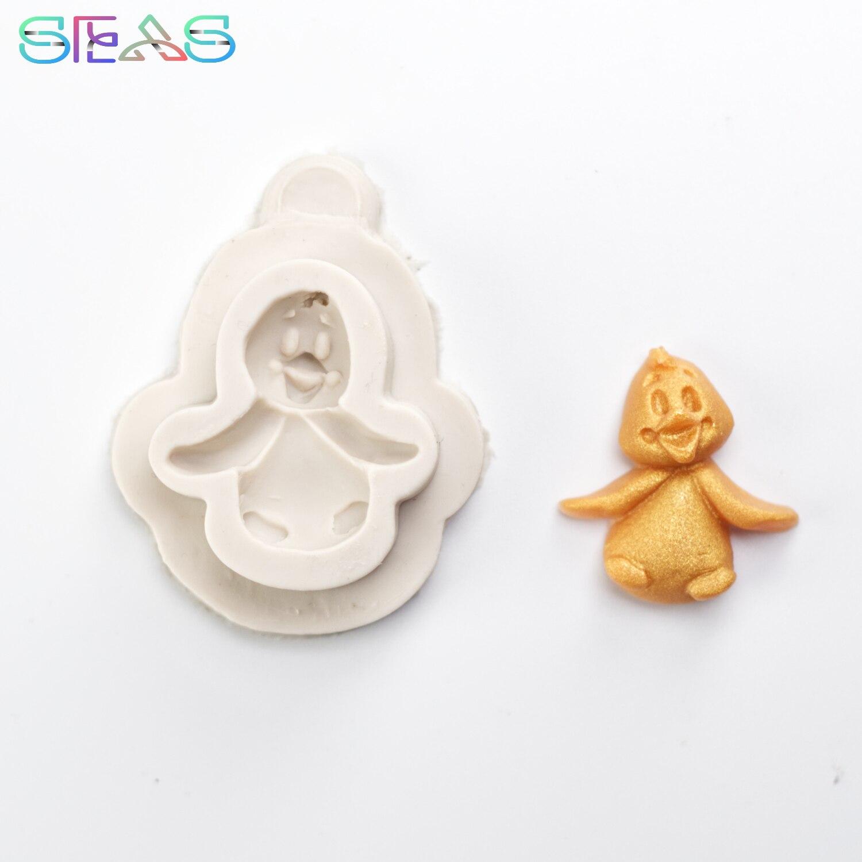 Форма для печенья с утенком, искусственная форма для украшения торта, кондитерские инструменты, аксессуары, кондитерские изделия из смолы д...