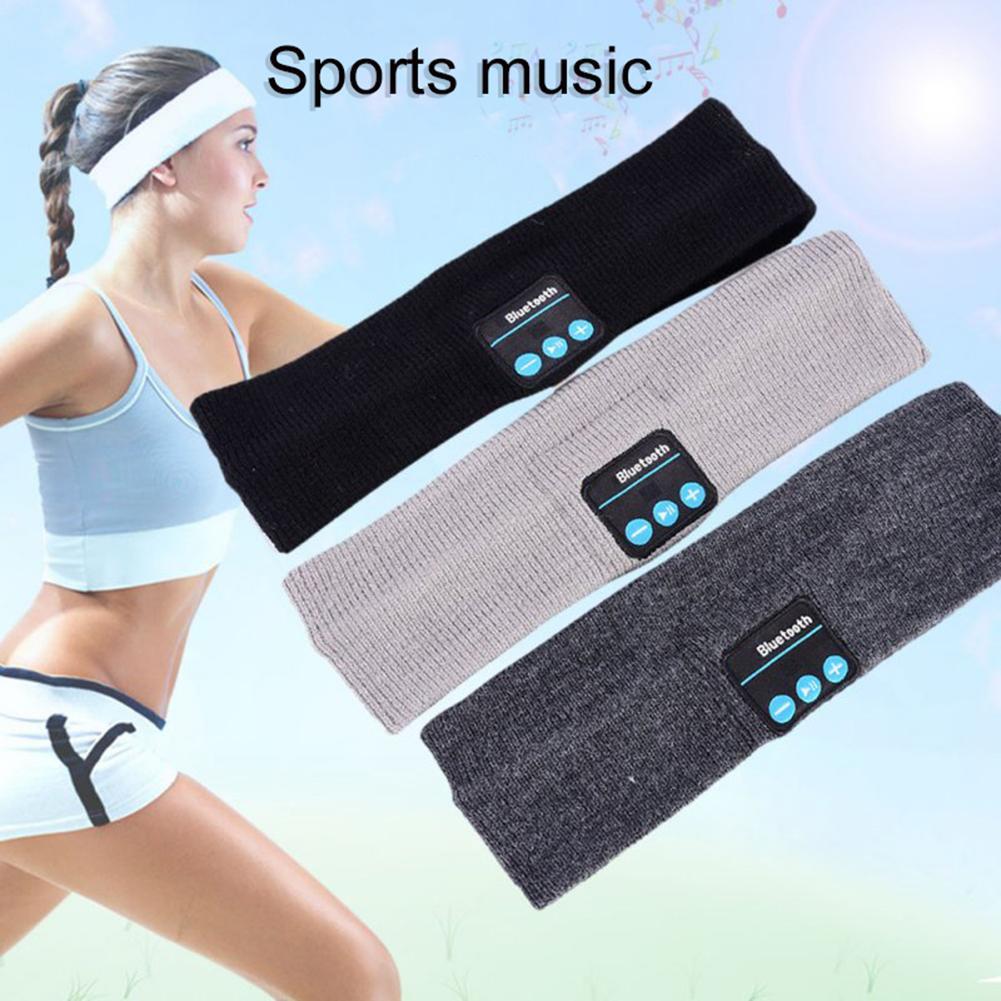 Banda para el sudor deportiva elástica para correr Yoga teléfono musical inalámbrico Bluetooth