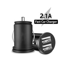 Dual USB Car Charger 2.1A Fast Charging For  iPhone12 Pro Max Huawei Mate 40 Pro Samsung Galaxy S8 M