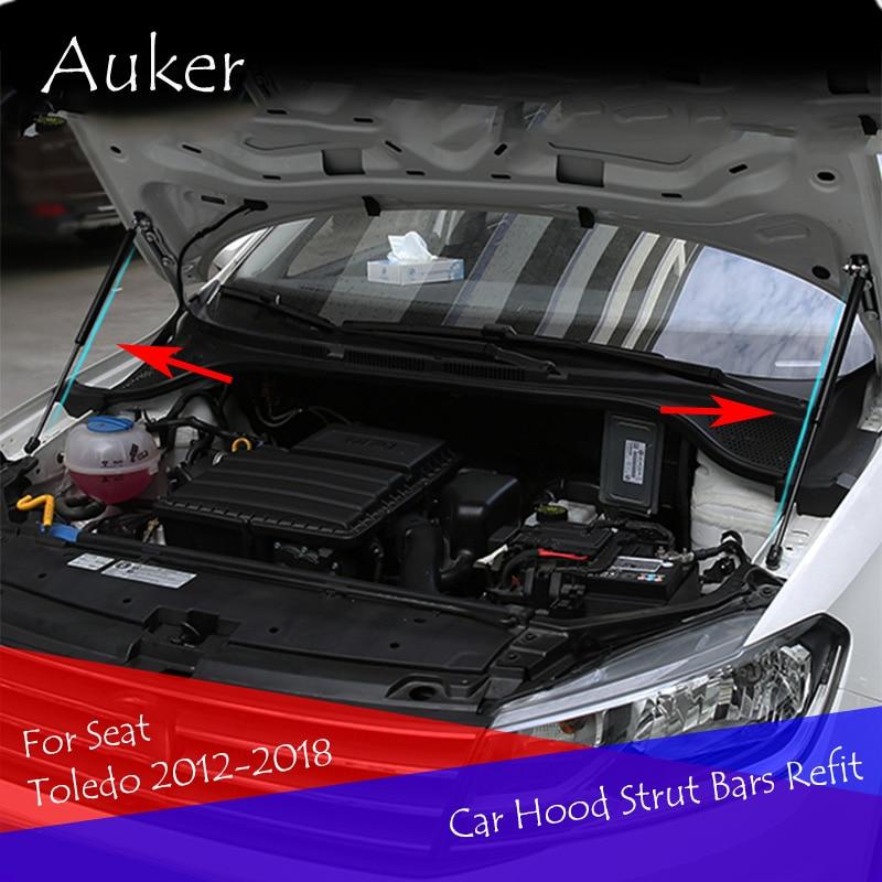 Para asiento Toledo IV KG3 2012-2018 para cubierta de motor frontal apoyo resorte de puntal de barra hidráulica shock bares soporte de coche-estilo