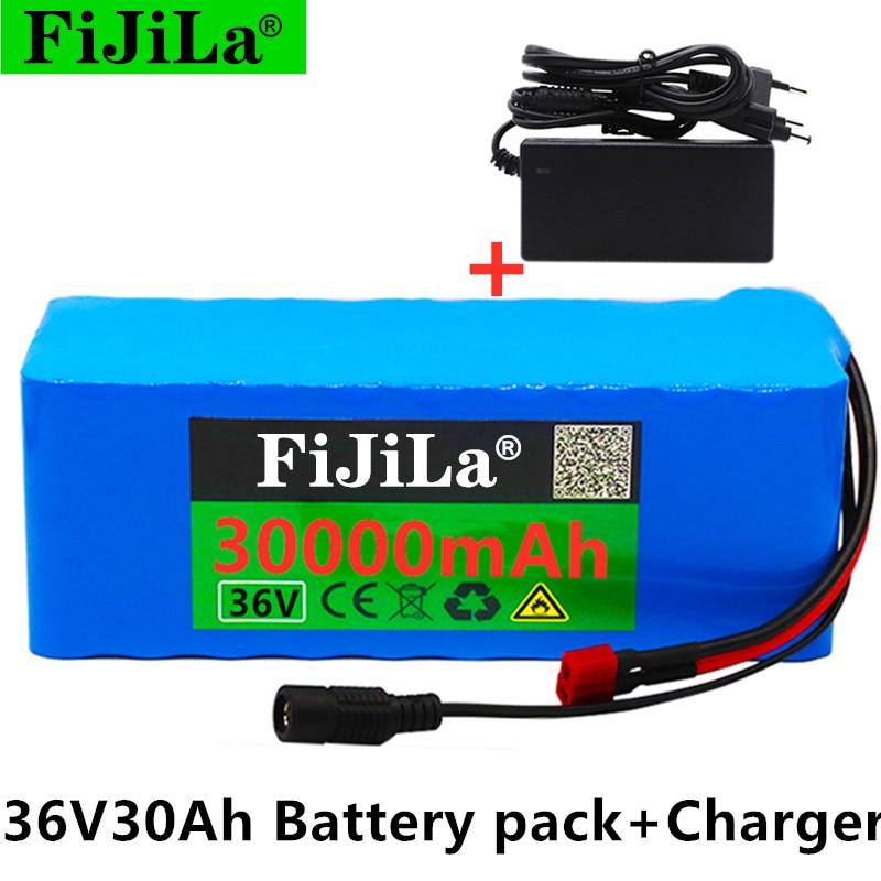 100% الأصلي 36 فولت بطارية 10S4P 30Ah بطارية 1000 واط عالية الطاقة بطارية 42 فولت 100000 مللي أمبير Ebike دراجة كهربائية BMS + 42V2A شاحن