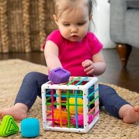 infant colorful shape block sorting game baby montessori learning educational toys for kids bebe birth inny 0 12 months gift