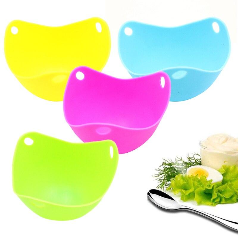 Cuenco de silicona para cocinar huevos cocidos, escalfador, molde para sartén, huevo...