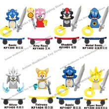 KF6123 vendita singola film Sonic Building Blocks mattoni anime Amy Rose Ray Storm Shadow mini Dolls Action Figure Assembly Toy gift