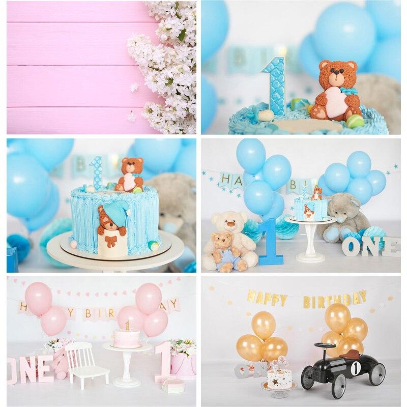Fondo fotográfico personalizado de vinilo SHENGYONGBAO para cumpleaños y bebé 91227SR-01