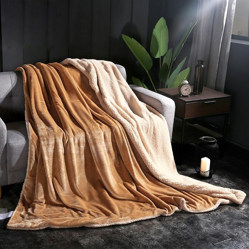 رشاقته الشتاء الفانيلا بطانية بطاينة كشمير البطانيات الدافئة الصوف سوبر لينة رمي على غطاء أريكة سرير البطانيات للأسرة