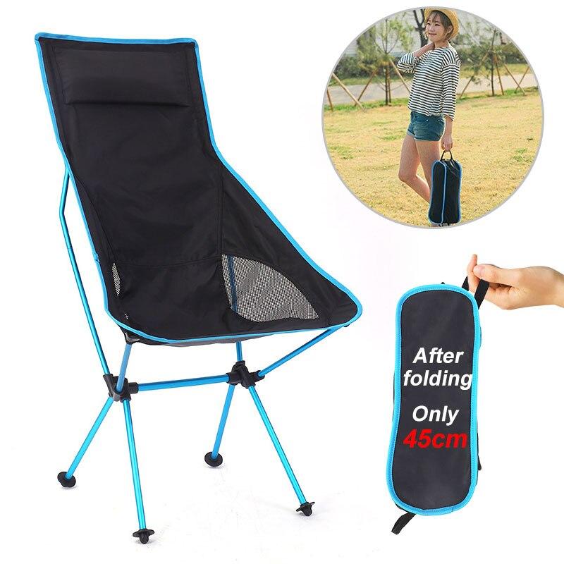 المحمولة خفيفة كرسي قابل للطي سوبيرهار التخييم كرسي الشاطئ عالية تحميل الألومنيوم الصيد التنزه نزهة شواء مقعد أدوات في الهواء الطلق