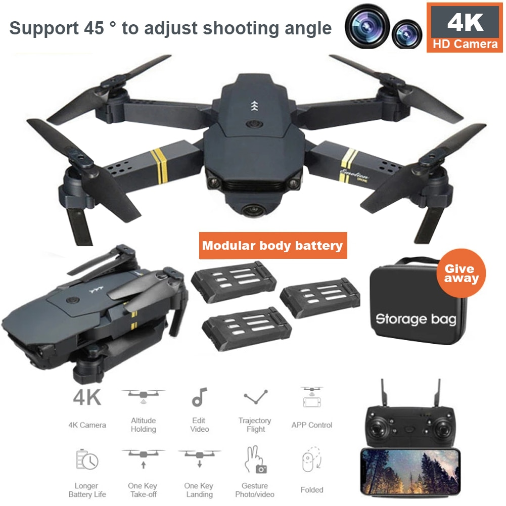 WIFI FPV With Wide Angle  Mini  HD drone 4k profesional  Camera Hight Hold Mode Foldable Arm RC Quadcopter Drone X Pro RTF Drone