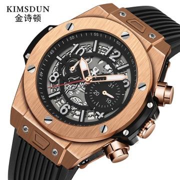 Nuevo reloj mecánico automático KIMSDUN 2019 de silicona Rolexable de alta calidad, relojes deportivos resistentes al agua, relojes Relogio