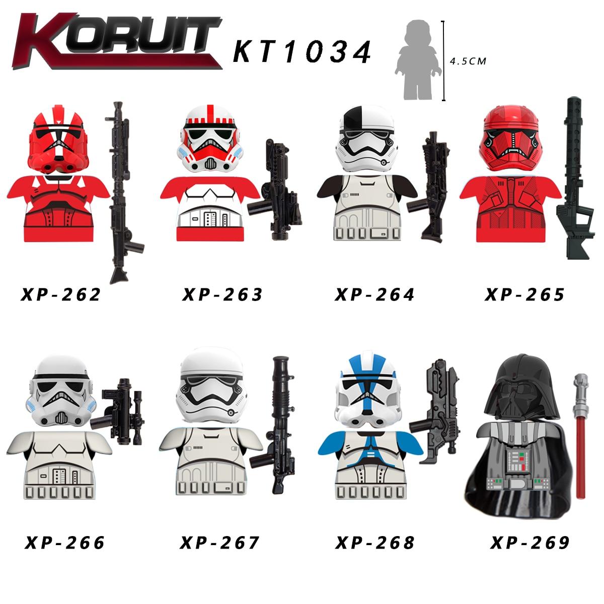 21PCS/LOT STARS W Figures Yoda Empire Mechanic Robot The Man Rhoda Poe Dameron Sith Stormer Raider Building Block Toys