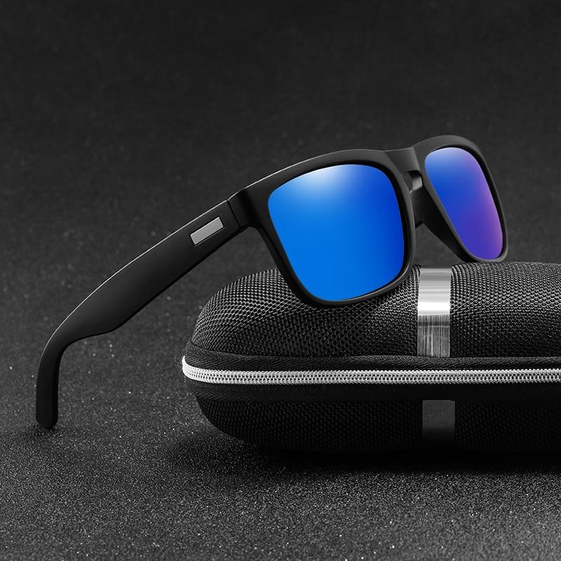 Men Sunglasses Polarized Flat Top Sunglasses 2020 Brand Designer Driving Sun glasses Male High Quali