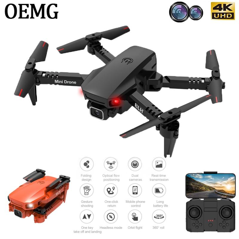 OEMG Mini RC Drone 4K HD Dual Camera WIFI FPV Air Pressure Altitude Hold One Key Return Home Foldable Quadcopter Kid Toys GIft