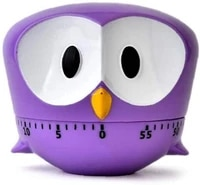owl timer 60 minute portable kitchen machine timer cooking countdown countdown alarm clock egg cooking assistant baking tools