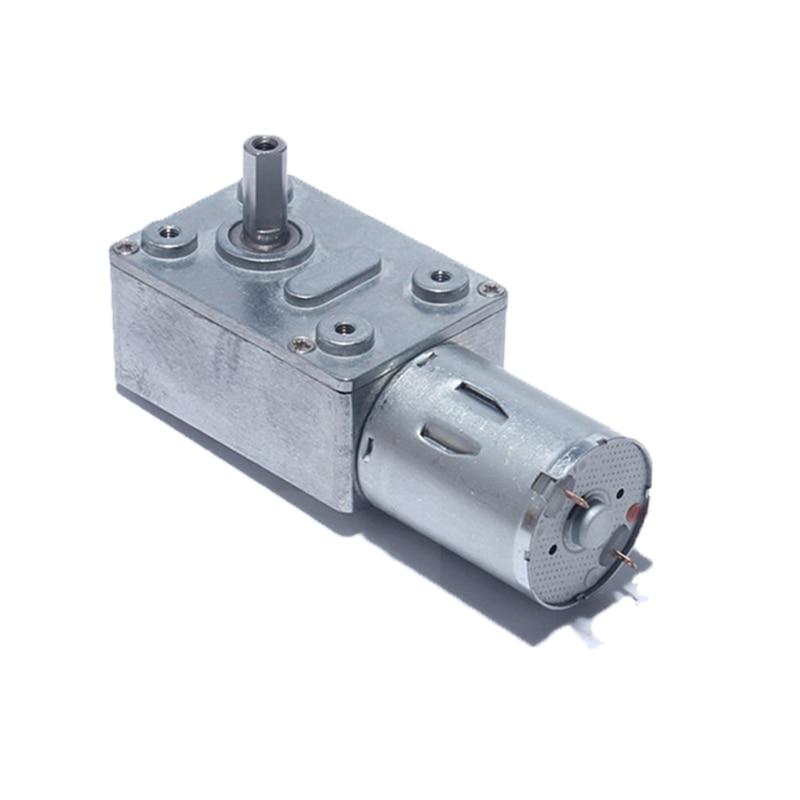 DC 6V 12V 24 V Reduction Motor, High Torque Turbo Worm Geared Motor for Range Hood Nesting Machine S