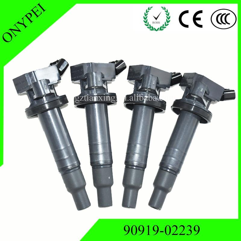 Car coils 90919-02239 90919-02262 UF-247 Ignition Coil For 2000-2005 Toyota Celica Corolla Matrix MR2 1.8 90919 02239 9091902239