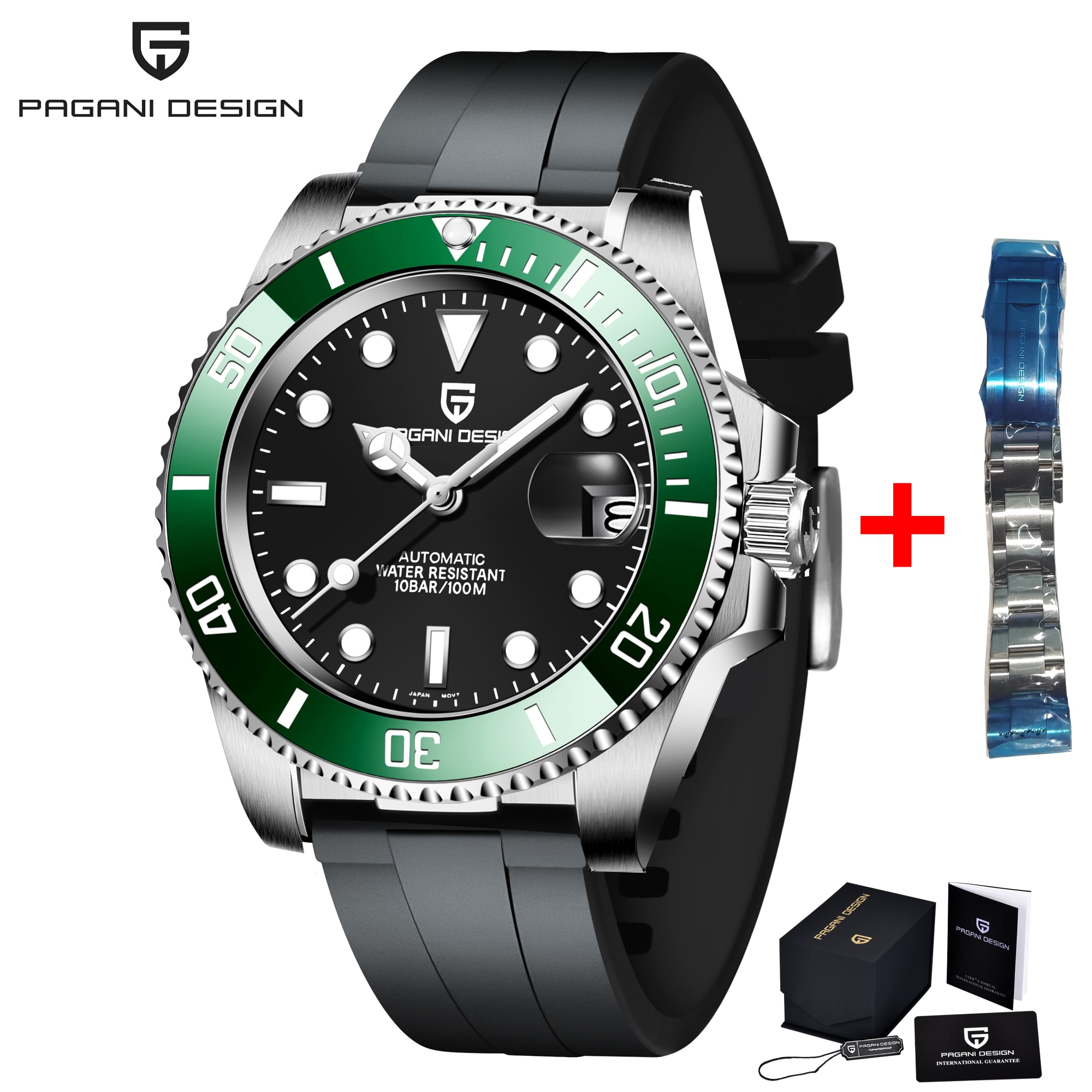 2020 PAGANI تصميم جديد ساعة رجالي ساعة ميكانيكية أوتوماتيكية الفولاذ المقاوم للصدأ مستكشف ساعة الياقوت الفاخرة Relogio Masculino