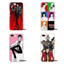 Cartoon Lupin Die Dritte Für Samsung Galaxy S2 S3 S4 S5 MINI S6 S7 rand S8 S9 Plus Hinweis 2 3 4 5 8 Coque Fundas Silikon Abdeckung Tasche