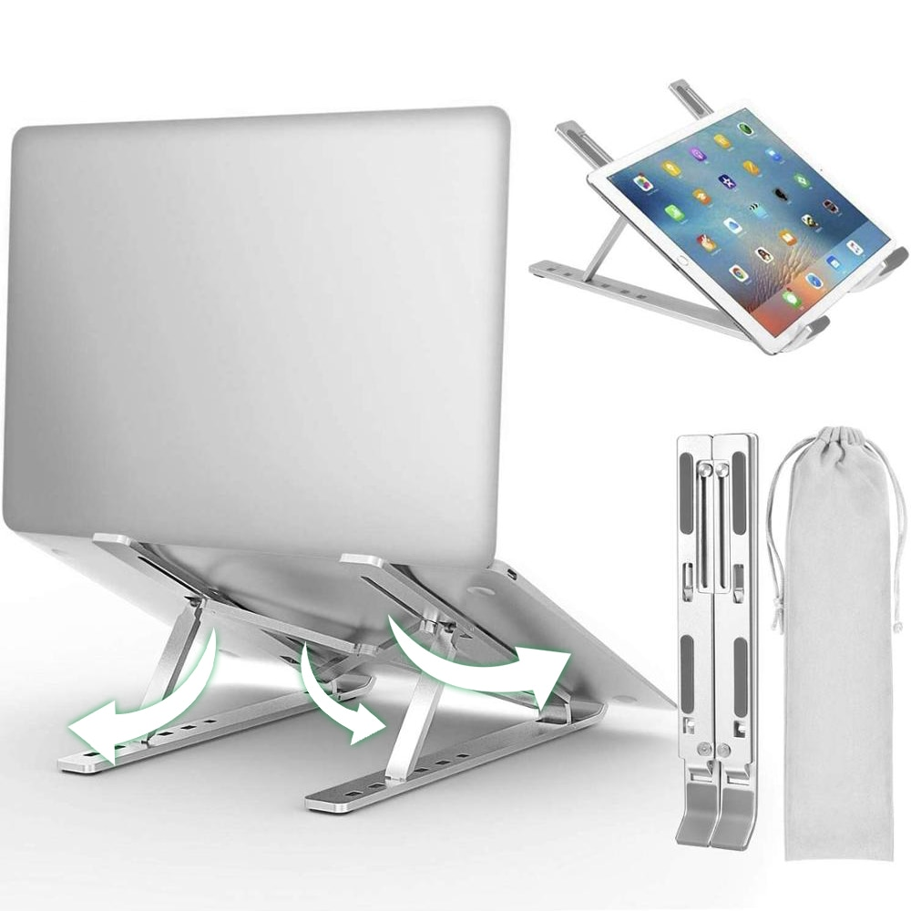 Portable Laptop Stand Aluminium Adjustable Laptop Holder Tablet Bracket Foldable Macbook Support Notebook Base For PC Computer