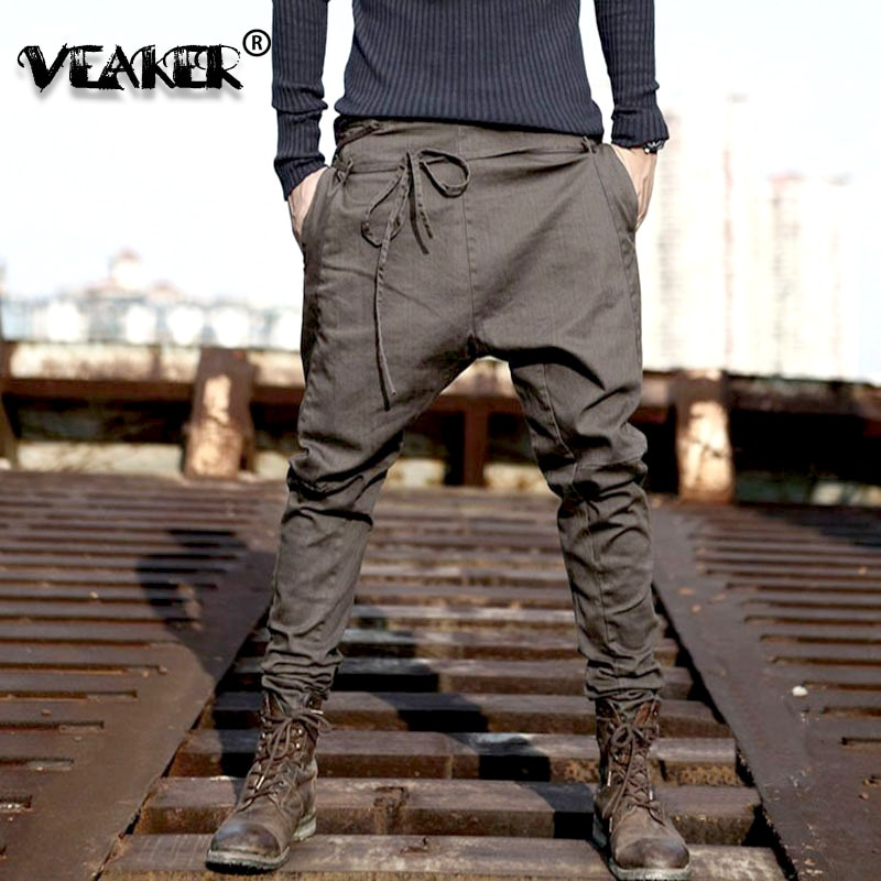 2020 Hip Hop Pants Men Loose Sweatpants Low Waist Harem Pant Men Streetwear Punk Casual Trousers Jogger Male Dancing Black Pant