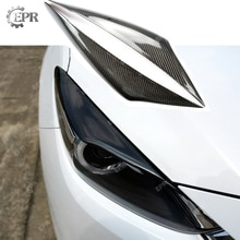 For Mazda 3 Axela BM 2014 Carbon Fiber Headlight Eyebrow Tuning Part Trim For Axela BM Knight Sports Carbon Headlight Eyebrow