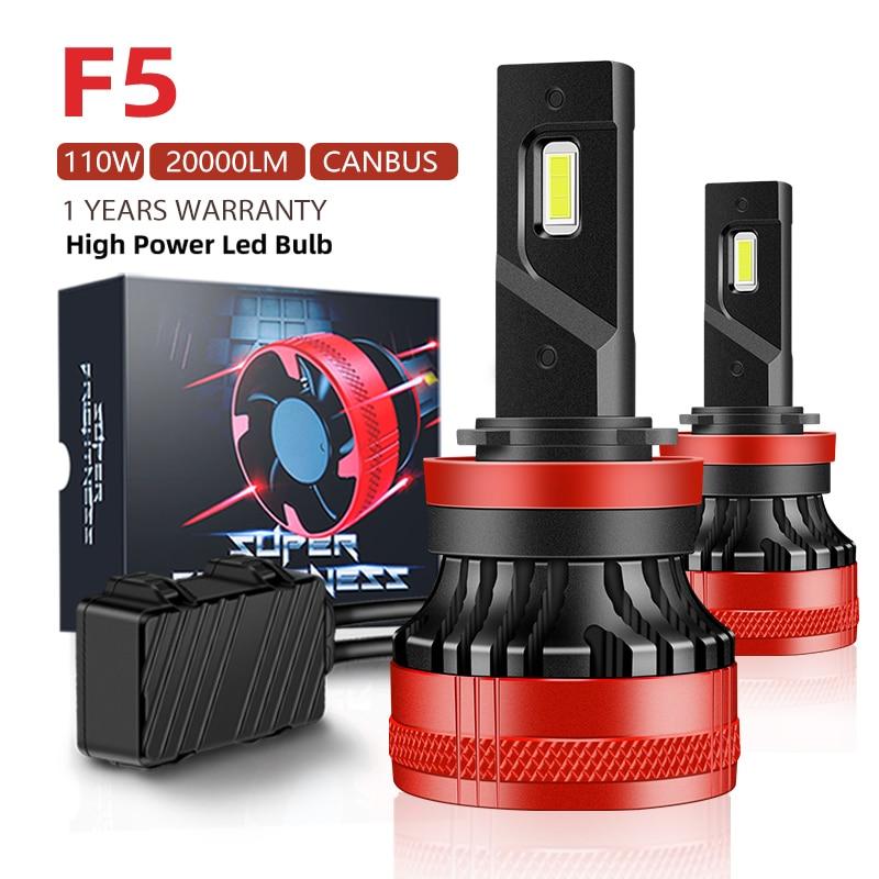F5 110W H7 H4 Led Canbus 20000LM High Power Headlight H1 H8 H11 H16 9005 Hb3 Hb4 9012 H13 9007 Led Bulb Turbo Lamp For Car 2PCS