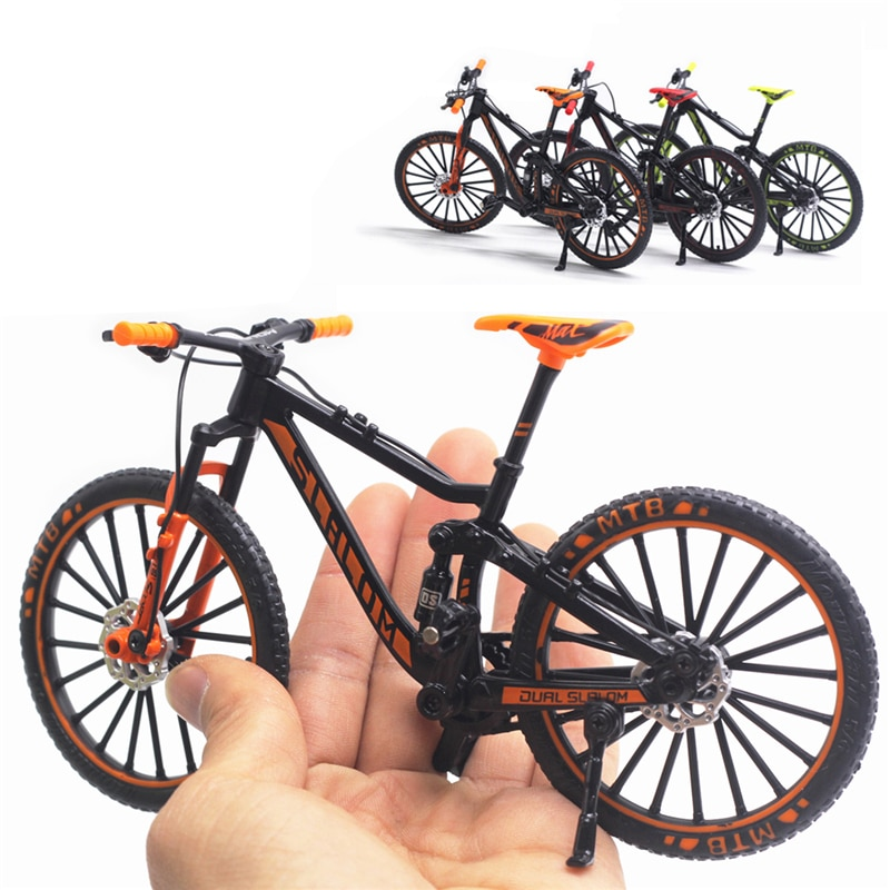 1:10 Mini Model Alloy Bicycle toy Finger Mountain bike Pocket Diecast simulation Metal Racing Funny