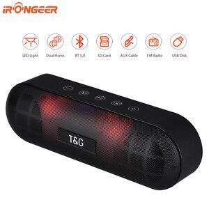 20 Вт LED ночник портативный Bluetooth динамик водонепроницаемый беспроводной Колонка Boom Box сабвуфер TF AUX FM радио Смарт USB динамик для ПК