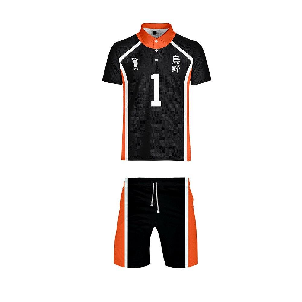 Маскарадный волейбол Haikyuu Джерси аниме футболка и шорты Sudadera спортивная одежда Короткие штаны haikyuu karasuno Джерси Униформа команда