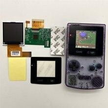 Écran LCD haute luminosité GBC LCD pour Gameboy couleur GBC, plug and play sans soudure et découpe de coque.