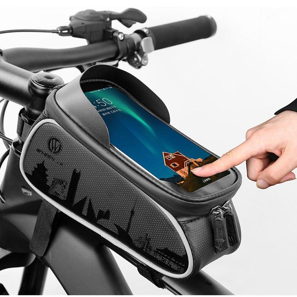 YeSKOO велосипедная передняя рама, сумка для 6 дюймов, мобильный телефон, непромокаемый, на руль велосипеда