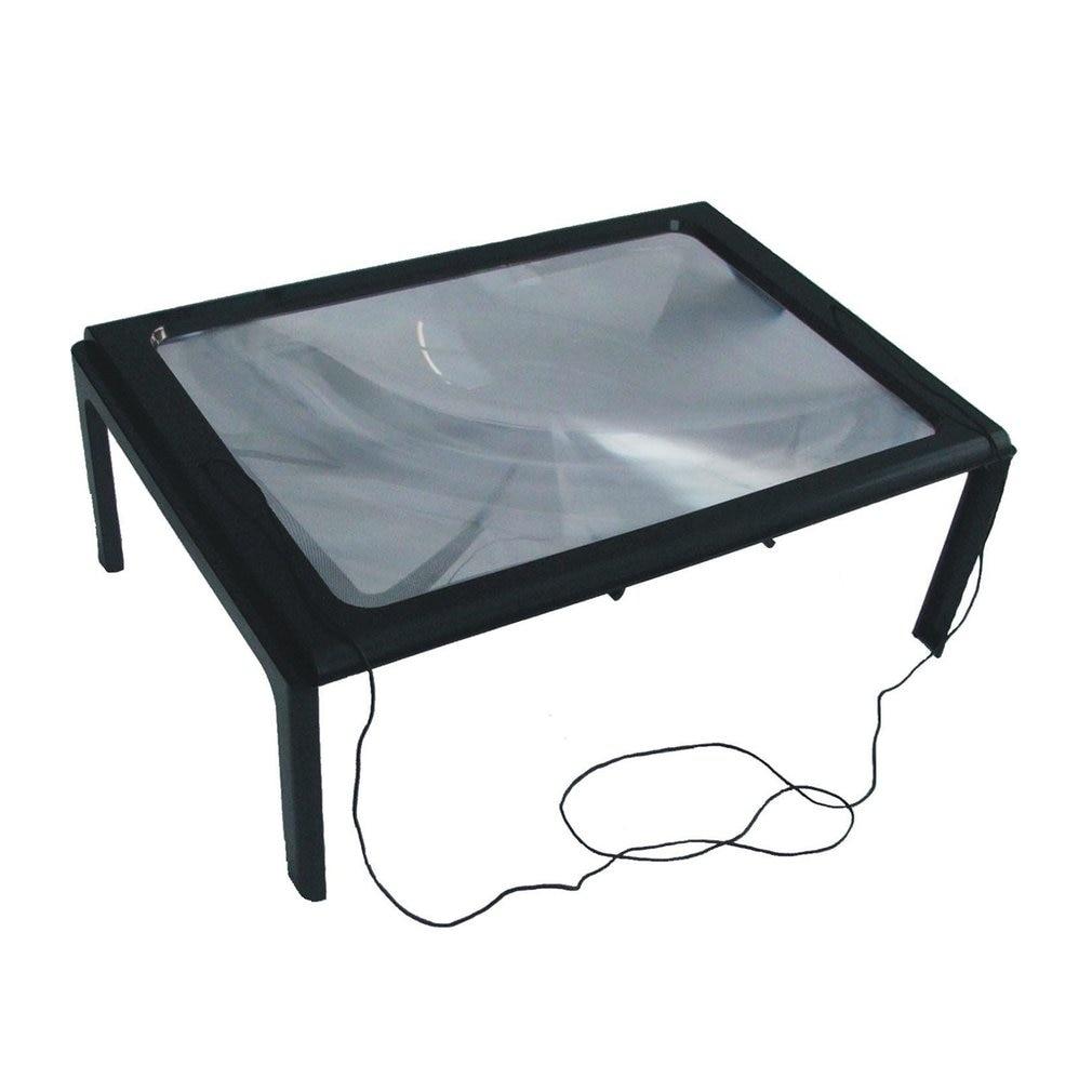 ¡Producto en oferta! Lupa de aumento plegable para lectura de punto de lectura de 3X mesa grande con manos libres para escritorio A4