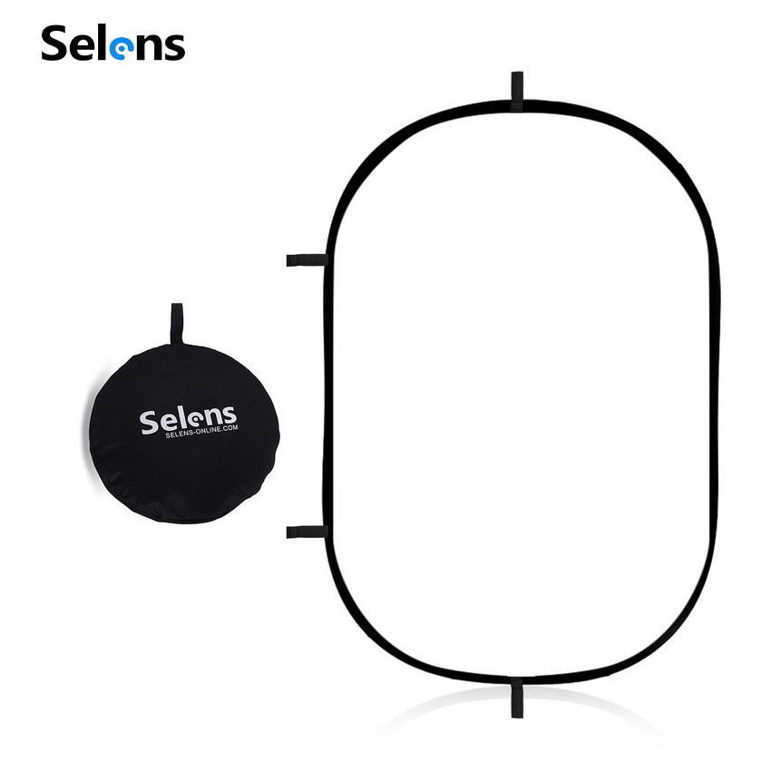 Selens 100X150CM طوي شفافة البيضاوي عاكس التصوير استوديو الصور لوحة لينة الناشر مجلس مع حقيبة محمولة