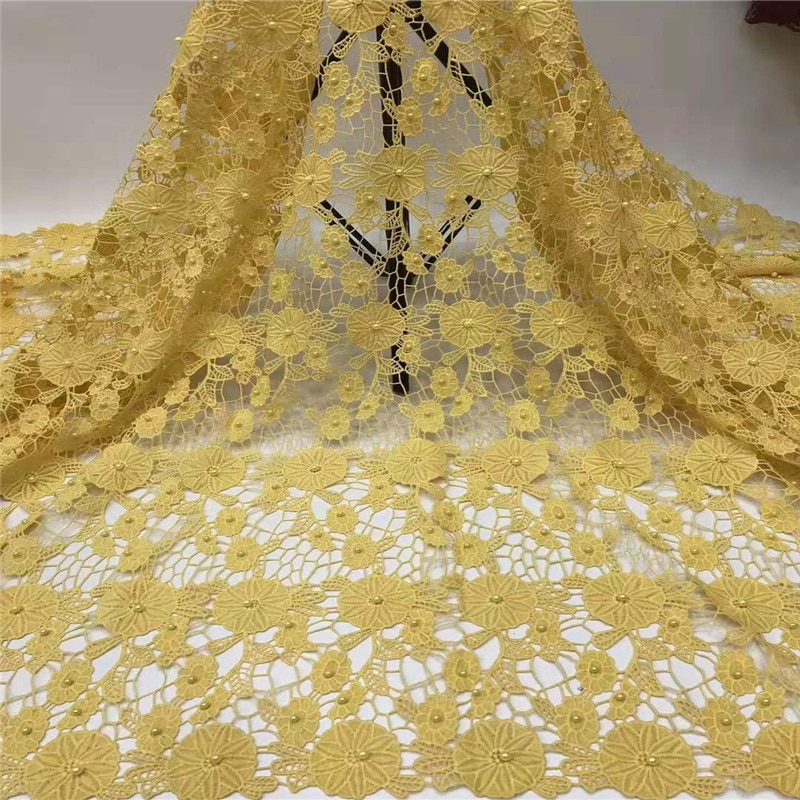 NaXiu Hot Sale French Lace Fabric Nigeria 3D Lace Fabric 2019 High Quality African Tulle Lace Fabric For Wedding Party Dress
