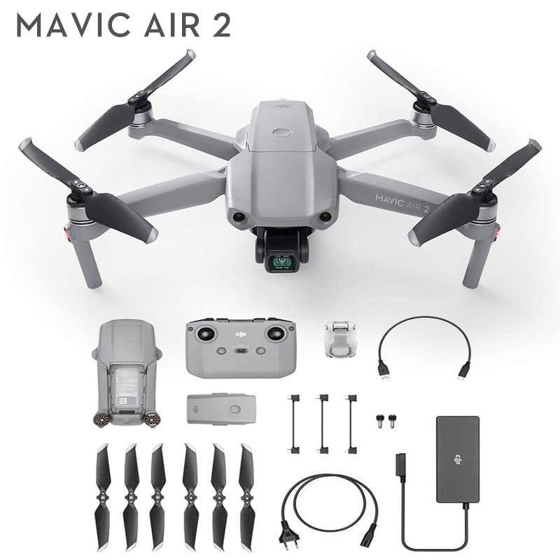 DJI Mavic Air 2 /Mavic Air 2 fly More كومبو الطائرة بدون طيار مع كاميرا 4k 4-min وقت الطيران 10 كجم 1080p نقل الفيديو الأصلي