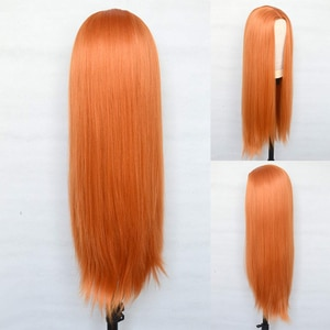 Long  Synthetic Lace Frontal Wigs Soft Colorful Hair Glueless Heat Resistant