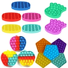Push Bubble Fidget Toys pop it Autism Special Needs Stress Reliever Helps Relieve Stress and Increas