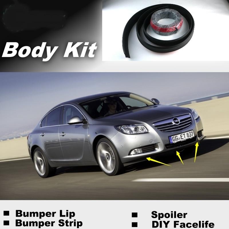 NOVOVISU parachoques los labios para Opel Insignia 2008 ~ 2015/tienda Top Gear Spoiler para automóvil/kit recomendado de carrocería + de