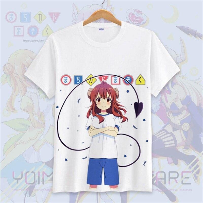 T-shirt japon Anime la fille démon à côté Yuko Yoshida Cosplay T-shirt hommes femmes étudiant été décontracté coton T-shirt hauts cadeaux