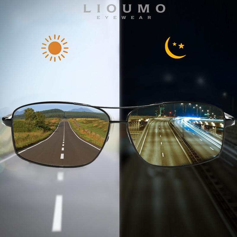LIOUMO Top Photochromic Sunglasses Men Women Polarized Chameleon Glasses Driving Goggles Anti-glare