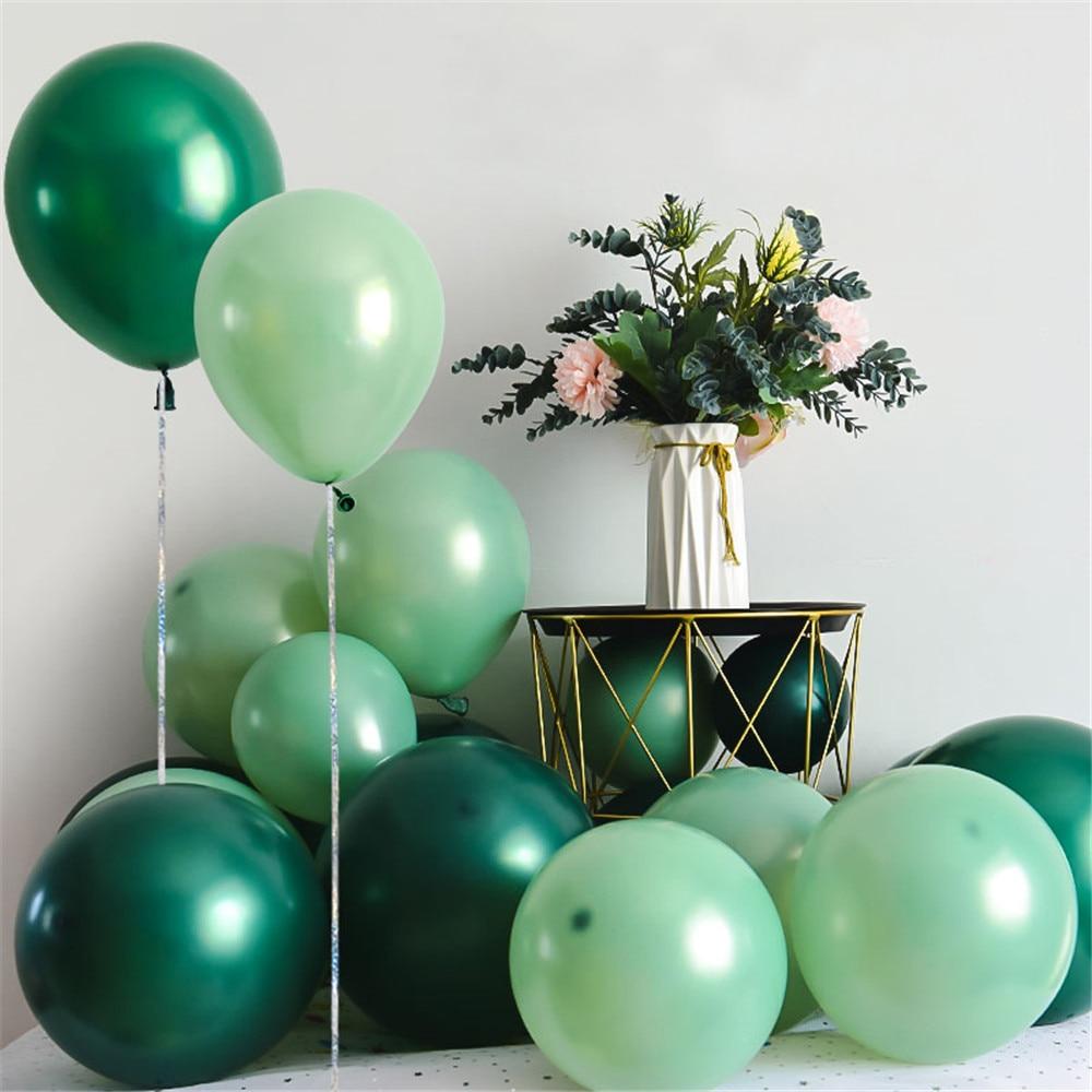 20 adet 10 inç fasulye yeşil balonlar zümrüt mürekkep zeytin yeşil balonlar garland kemer düğün doğum günü parti dekorları helyum Globos