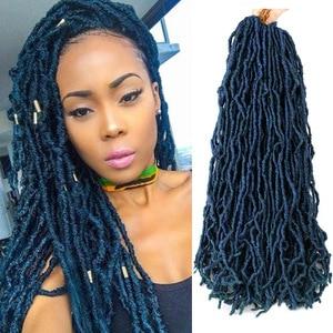 Belle Show Nu Locs Crochet Hair 12 18 24 Inch Long Soft Faux Locs Hook Braids Curly Dreadlock Braiding Hair Extensions Afro Curl