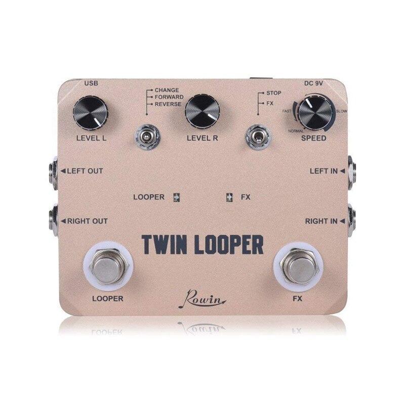Rowin Твин Лупер станция педаль эффектов для электрогитары петля станция для гитаристов золотой
