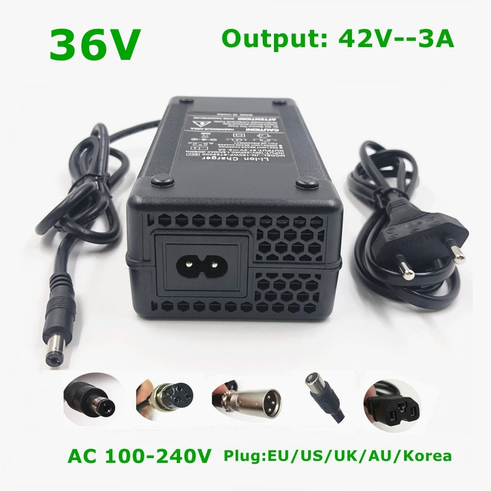 36V E-bike Li-ion Battery Charger Output 42V3A Charger for Electric Bike Lithium Battey High Quality