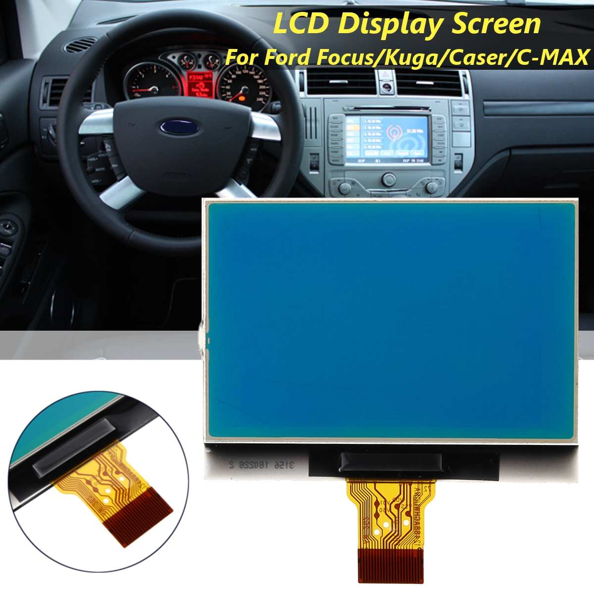 Tablero pantalla LCD pantalla píxel reparación manómetro Cluster para Ford Focus Kuga Caser para C-MAX 2008 2009 2010 2011