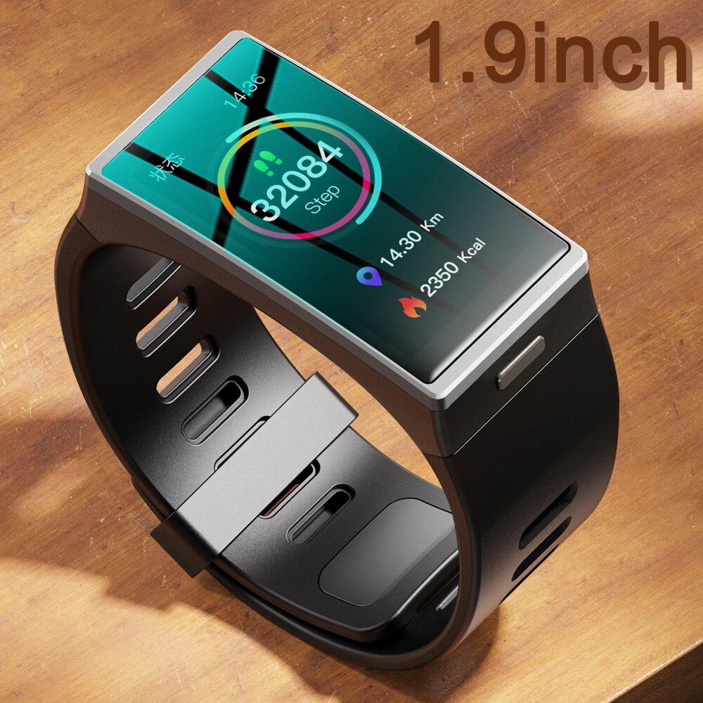 DM-12 ساعة ذكية الرجال 1.9 بوصة 170*320 شاشة Smartwatch النساء IP68 مقاوم للماء الفرقة الرياضة معدل ضربات القلب ضغط الدم أندرويد IOS