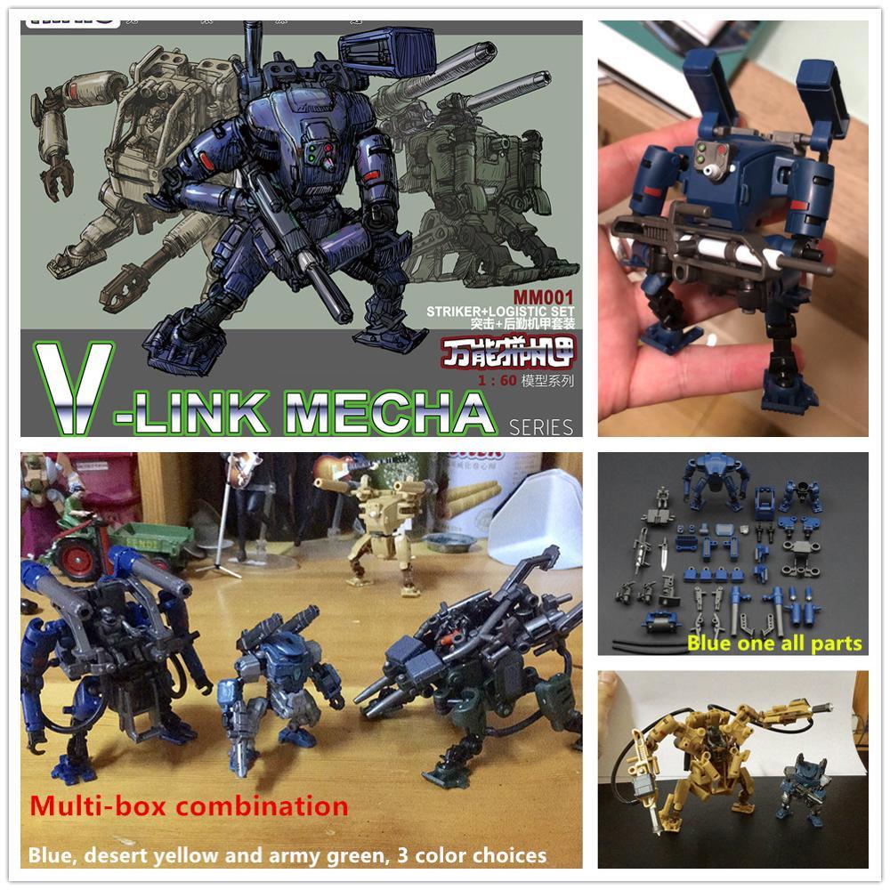 RIHIO, Multiabyss, modelo MM001, serie v-link Mecha Strike + set logístico, mech ensamblado universal, modelo DR001