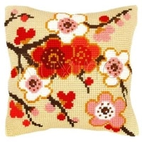 latch hook kits pillow red flower diy handmade printed canvas cushion flower kits diy unfinished accessories